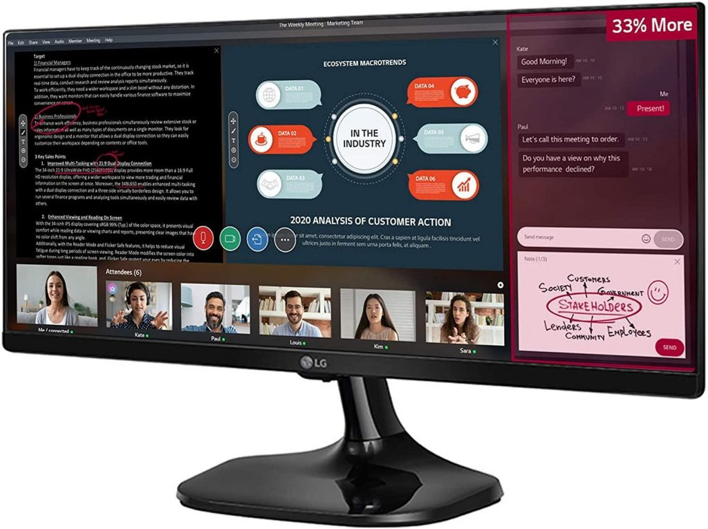LG Full HD IPS UltraWide Monitor