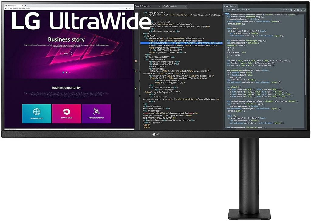 LG 34WN780-B UltraWide™ QHD Ergo IPS HDR Monitor